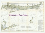 Eastern Part of Long Island Sound 1855 Original