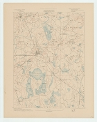 Topographic Map of  Middleborough MA 1887