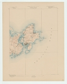 Topographic Map of  Rockport and Gloucester MA 1887