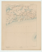 Topographic Map of  Yarmouth MA 1887