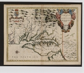 1676 Map of Virginia and Maryland Reproduction
